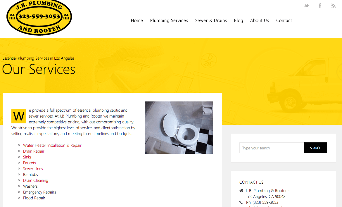New JB Plumbing Website